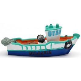 Декоративна релефна фигурка - рибарска лодка с маката