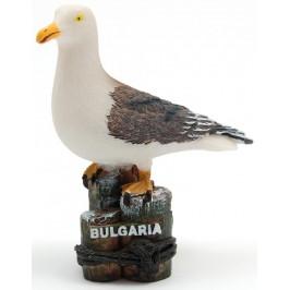 Декоративна релефна фигурка - чайка и надпис България