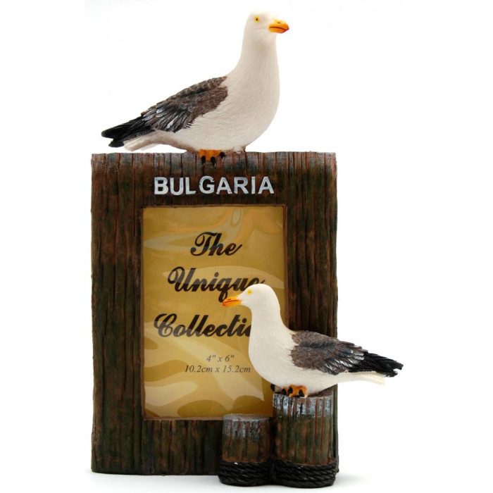 Декоративна рамка за снимка, декорирана с две чайки