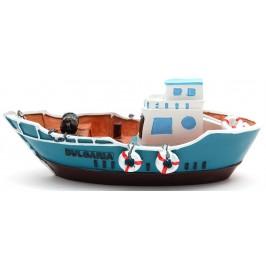 Декоративна релефна фигурка - рибарска лодка с два спасителни пояса