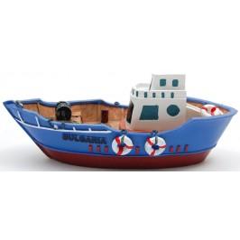 Декоративна релефна фигурка - рибарска лодка с два спасителни пояса и макара