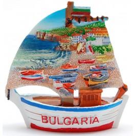 Декоративна релефна фигурка - платноходка - морски пейзаж - лодки