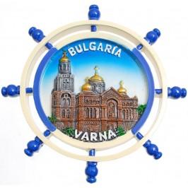 Сувенирна фигурка с магнит - рул с Варненската катедрала