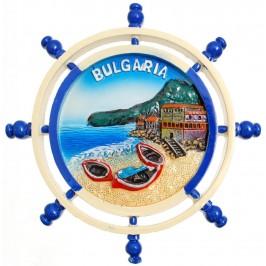 Сувенирна фигурка с магнит - рул с морски бряг и надпис България