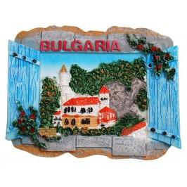 Декоративна фигурка с магнит - прозорец - дворец и надпис България