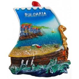 Декоративна фигурка с магнит - лодка -морски бряг