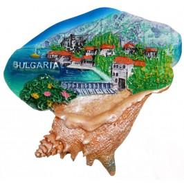 Декоративна фигурка с магнит - раковина - морски пейзаж