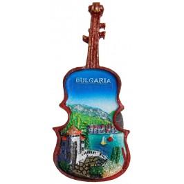 Декоративна фигурка с магнит - цигулка- морски пейзаж