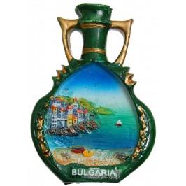 Декоративна фигурка с магнит - ваза - морски пейзаж