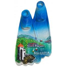 Декоративна фигурка с магнит - плавници - морски пейзаж