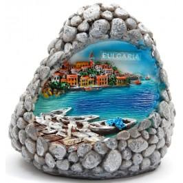 Декоративна релефна фигурка - скала - морски пейзаж