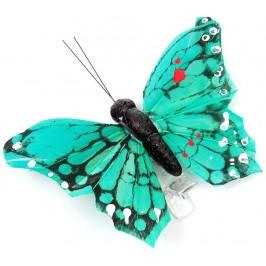 Декоративна фигурка пеперуда върху PVC щипка