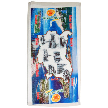 Сувенирна кърпа със снимки от българското черноморие