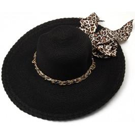 Красива дамска плетена шапка с периферия - черна