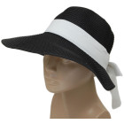 Красива дамска плетена шапка - черна