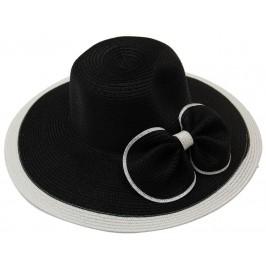 Красива дамска шапка с голяма периферия - черна