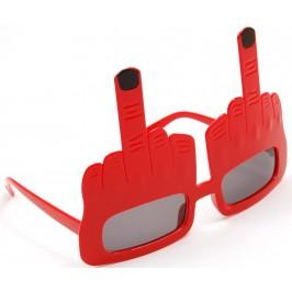 Карнавални очила - юмрук с вдигнат среден пръст
