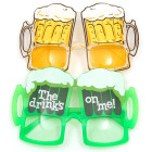 Карнавални очила - две халби с бира