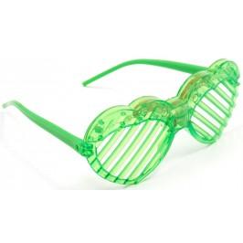Светещи карнавални очила - сърца с решетки без стъкла