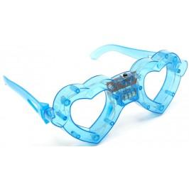 Светещи карнавални очила - сърца без стъкла
