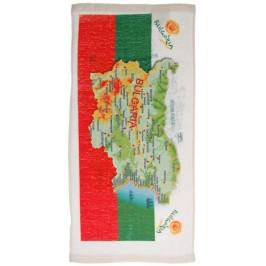 Сувенирна кърпа с картата на България