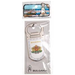 Сувенирна магнитна отварачка - метал - Герб на България