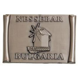 Сувенирна метална фигурка с магнит - мелница Несебър