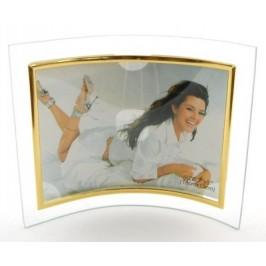 Красива стъклена рамка със златист вътрешен кант
