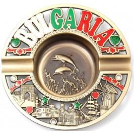 Сувенирен метален пепелник с цветен надпис