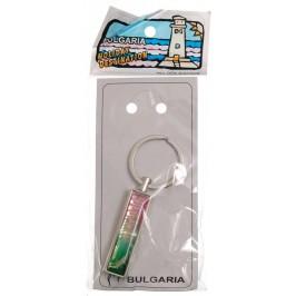 Сувенирен метален ключодържтел - свирка - надпис България и два делфина