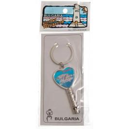 Сувенирен метален ключодържтел - свирка - Несебър