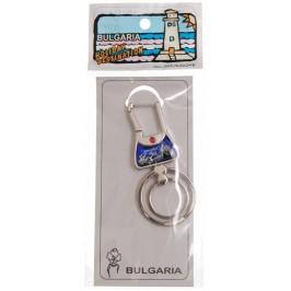 Сувенирен метален ключодържтел - морски мотиви и надпис България