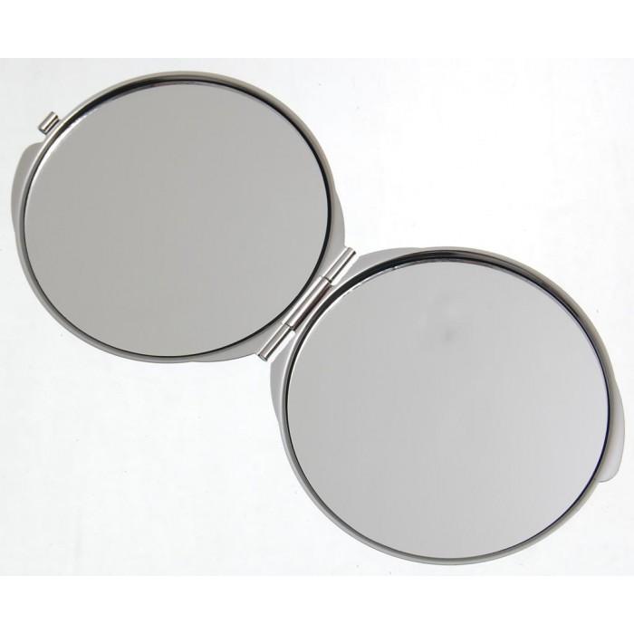Сувенирно джобно огледало метал с капаче - изглед от Черноморското крайбрежие