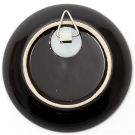 Сувенирна чинийка порцелан с пластмасова поставка и кукичка за закачване - 9см