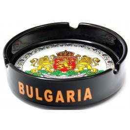 Сувенирен керамичен пепелник с лазарна графика - Герб на България