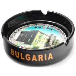 Сувенирен керамичен пепелник с лазарна графика - аквариум Варна
