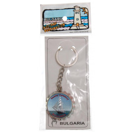 Сувенирен метален ключодържател отварачка във формата на капачка - платнохоска и надпис България
