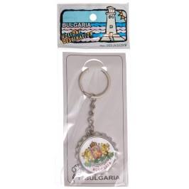 Сувенирен метален ключодържател отварачка във формата на капачка - Герб на Република България