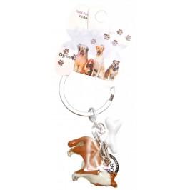 Сувенирен метален ключодържател - куче - коли, кокал и метална плочка