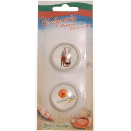 Сувенирни магнитни фигурки - мъж и жена в носии и лого България
