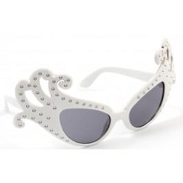 Карнавални очила - тип домино, декорирани с камъчета
