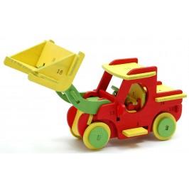3D пъзел от дърво - камионче