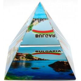 Сувенирна стъклена пирамида отразяваща - черноморски бряг