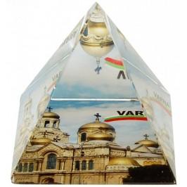 Сувенирна стъклена пирамида отразяваща - катедрала Варна