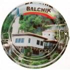 Сувенирен стъклен пепелник със снимка на двореца в Балчик