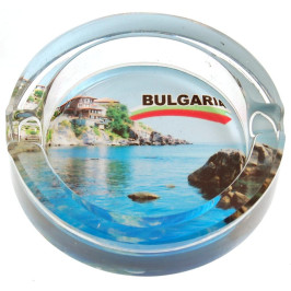 Сувенирен стъклен пепелник със снимка на Созопол