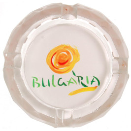 Сувенирен стъклен пепелник със снимка - лого на България