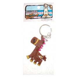 Сувенирен гумен ключодържател - магаре