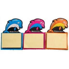 Декоративна магнитна фигурка с кубче листи, за бележки