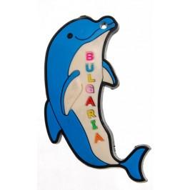 Декоративна гумена фигурка с магнит - делфин с надпис България